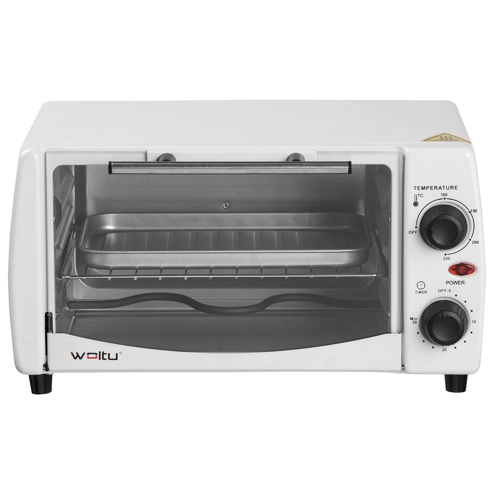 EUGAD Minibackofen Pizzaofen 12-20L mit Backblech Timer bis 250°C 800-1400W e756