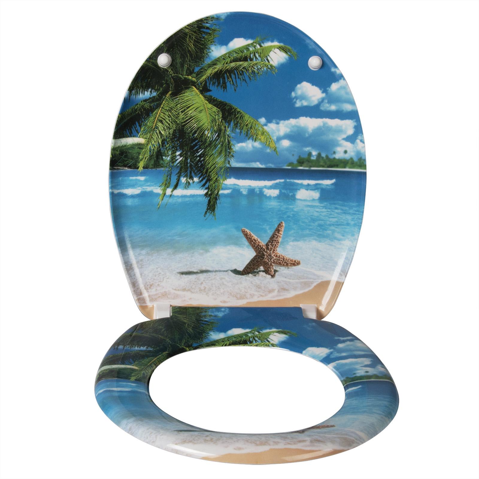 Toilettensitz Toilettendeckel Absenkautomatik Klobrille Duroplast Bad 0420MTG