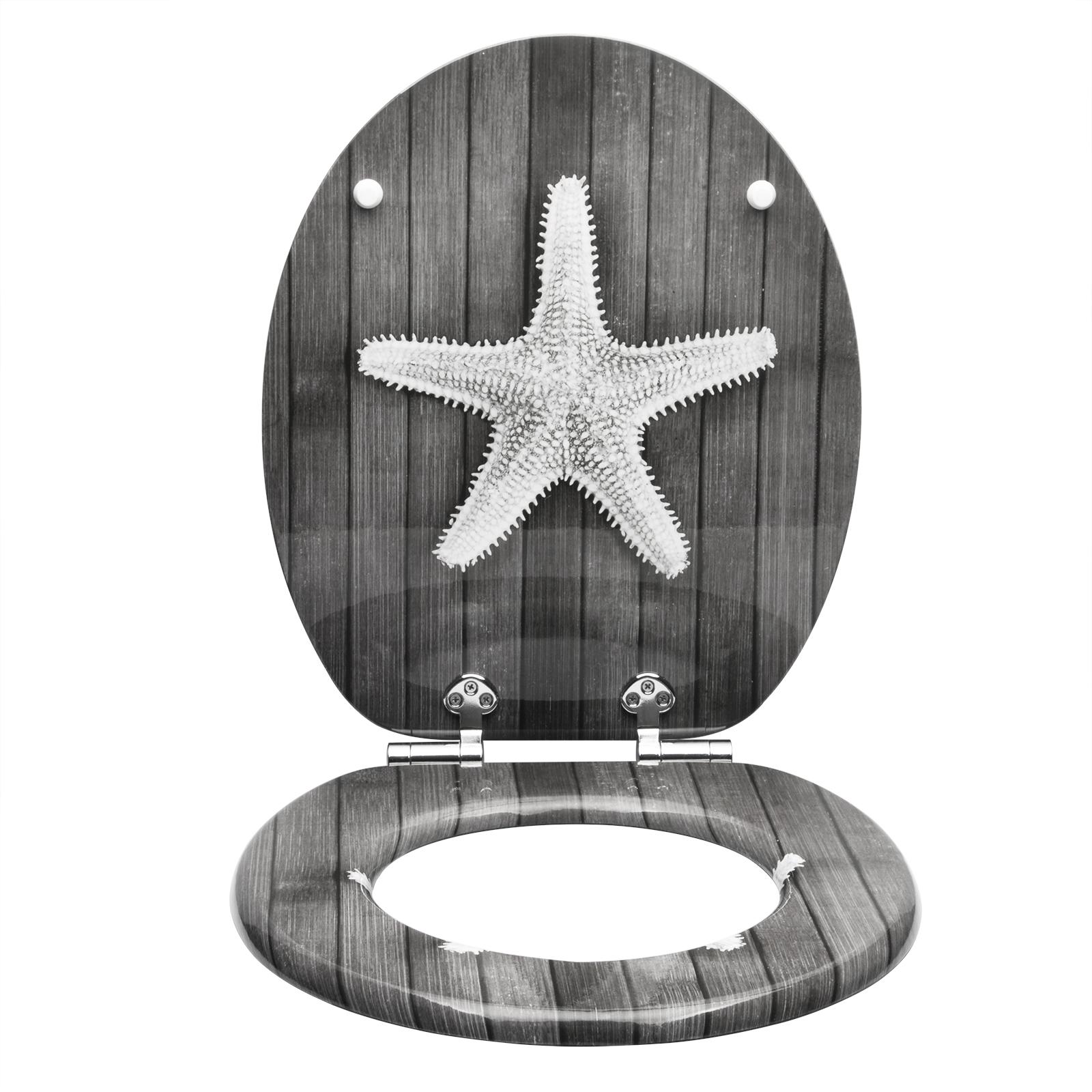 WC Sitz Toilettensitz Toilettendeckel Klodeckel Quadrat Form Absenkautomatik Neu