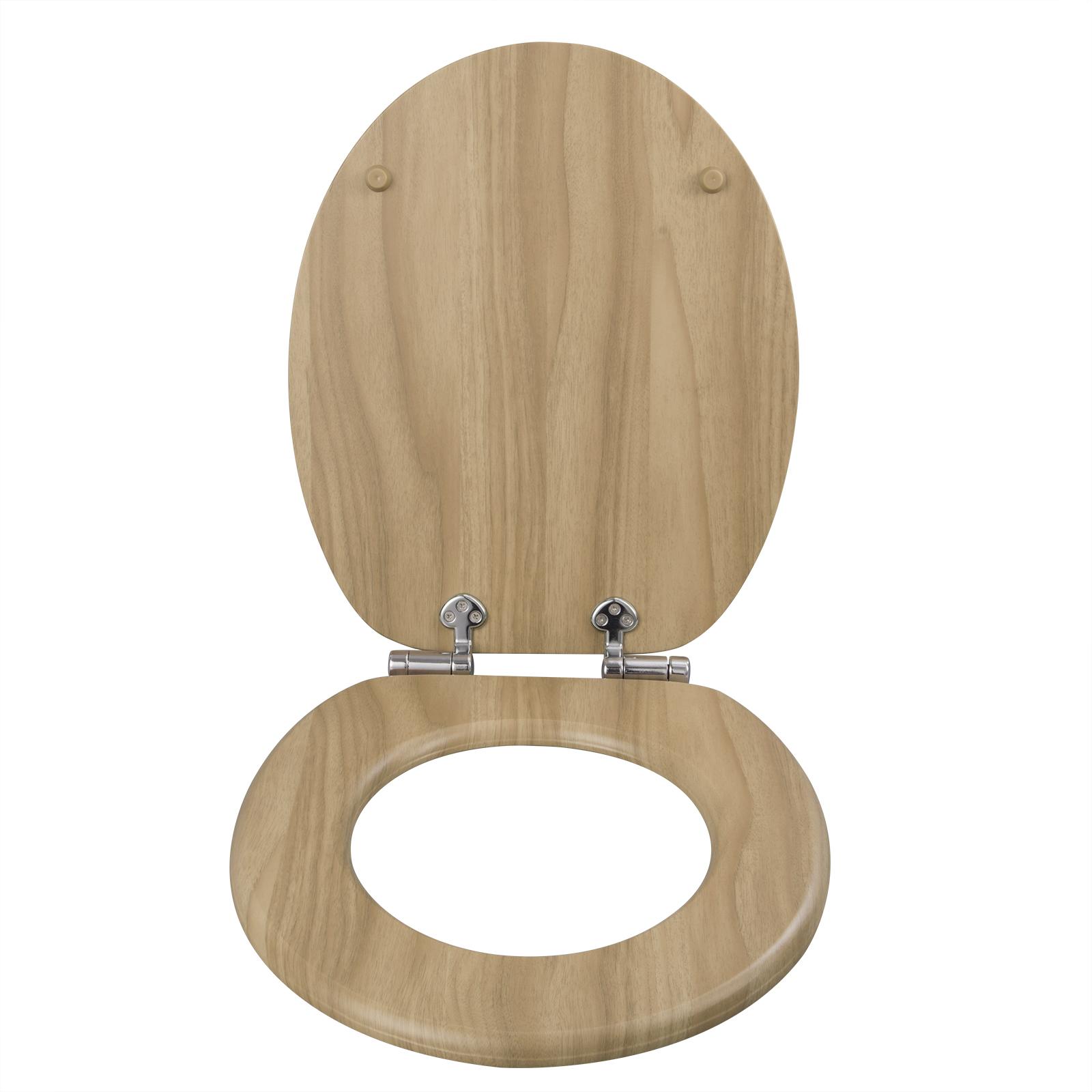 Toilettensitz Klobrille WC Deckel Toilettendeckel MDF Absenkautomatik 0293MTG