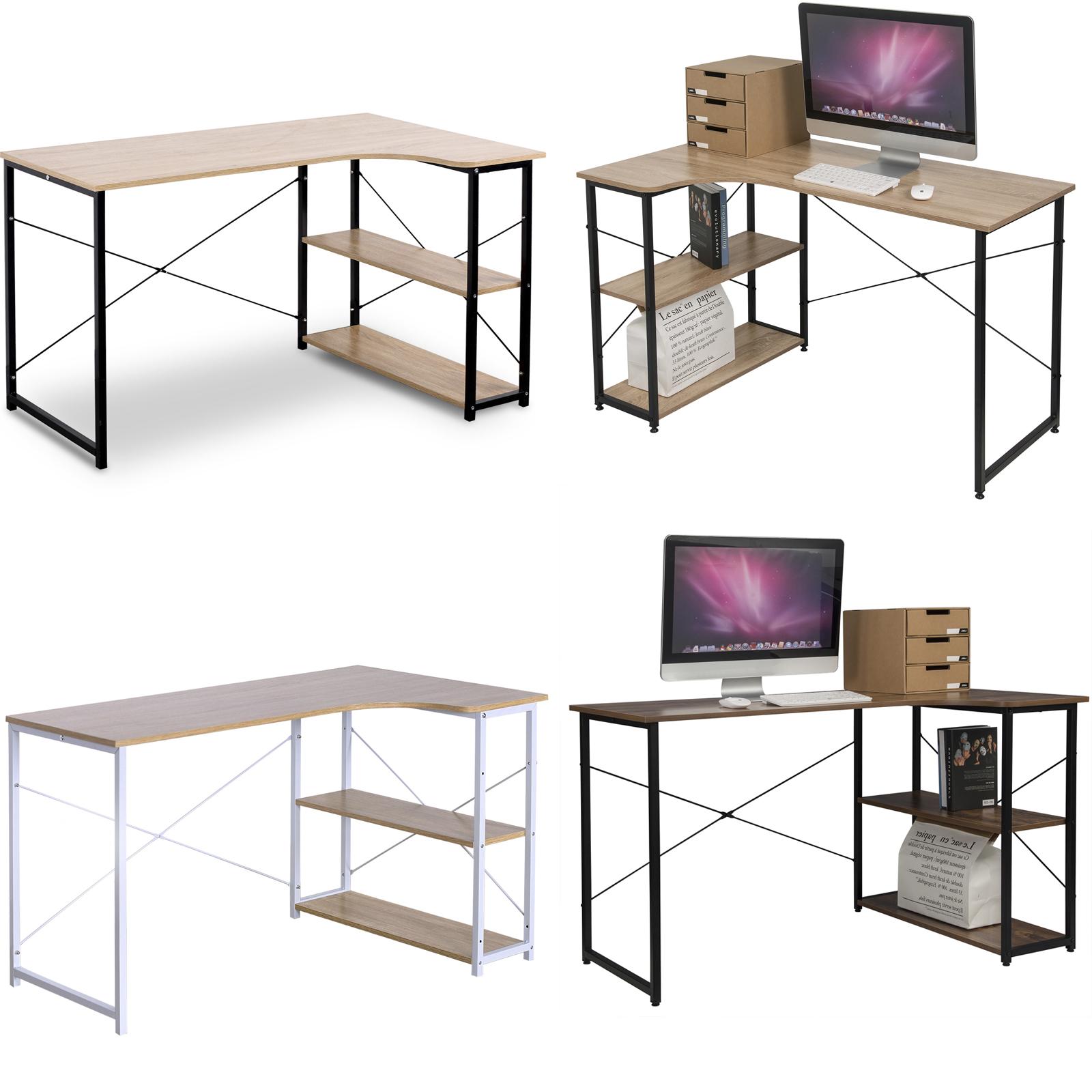 Schreibtisch Bürotisch Computertisch mit Bücherregal Arbeitstisch PC Tisch e607